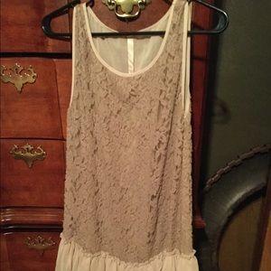 Mystree ruffled tunic dress size large
